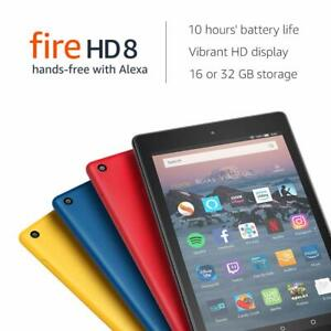 Kindle-Fire-HD-8-Tablet-with-Alexa-8-inch-16GB-2018-Model-Black-Red-Blue