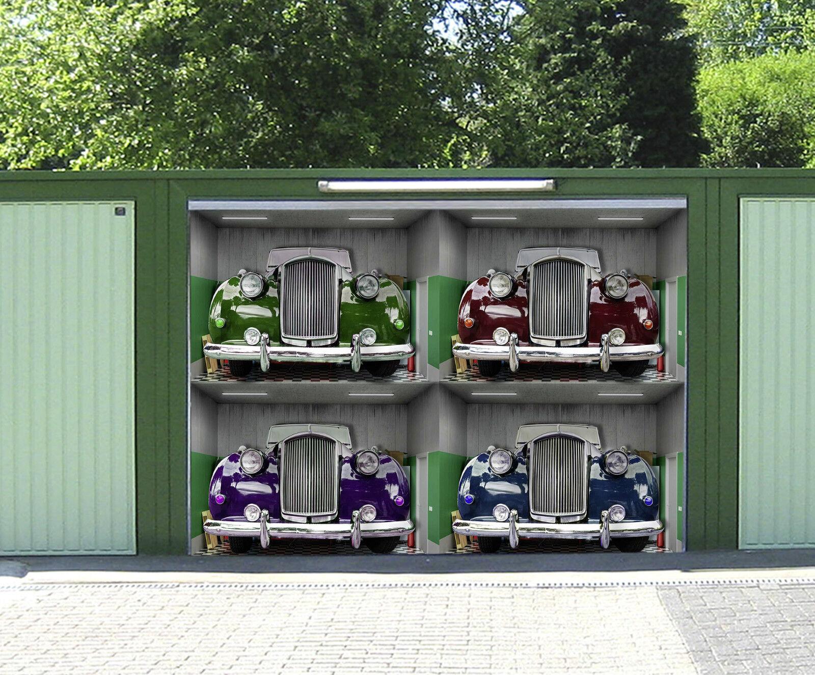 3D Voiture Ancienne 918 Garage Porte Peint en Autocollant Murale AJ WALLPAPER FR