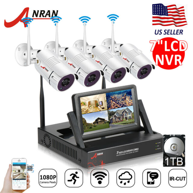 1080P 8CH Wireless Home Security Camera System WiFi 1TB HDD NVR Kits Waterproof