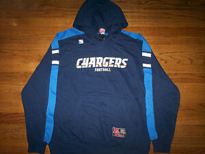 newest collection d01e7 b5954 Image is loading LOS-ANGELES-CHARGERS-NEW-NFL-PASSING-GAME-HOODED-