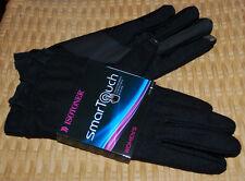 Isotoner Smartouch Winter Gloves Womens M/L Black Ruffle Wrist NWT$48 Wool Blend