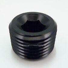 3/4 NPT Hex Allen Key BLACK BLANKING PLUG BUNG BLOCKER Male Fuel Oil Adapter