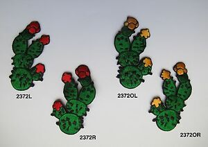 Cactus w//Yellow,Red Flower Embroidery Iron On Applique Patch
