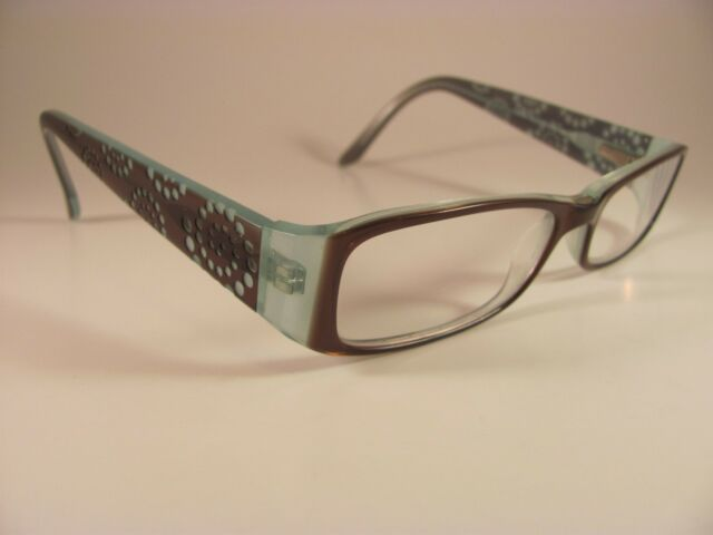 9ff1b2270b Takumi T9594 Women s Brown   Blue Spotted Full-Rim RX Eyeglass Frames 52-16