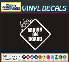 Baby Minion on Board funny Car Truck window wall vinyl sticker decal