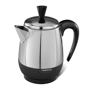 Farberware FCP240 2-4 Cup Electric Percolator, Stainless Steel NEW