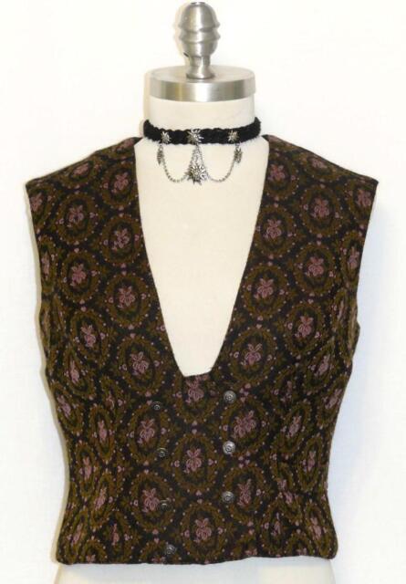 Black Green Pink Tapestry Wool Women German Dress Skirt Pants Suit