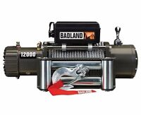 Badland Winch 12000lb Offroad Jeep Winch Auto Load-holding Brake 60 Day Warranty