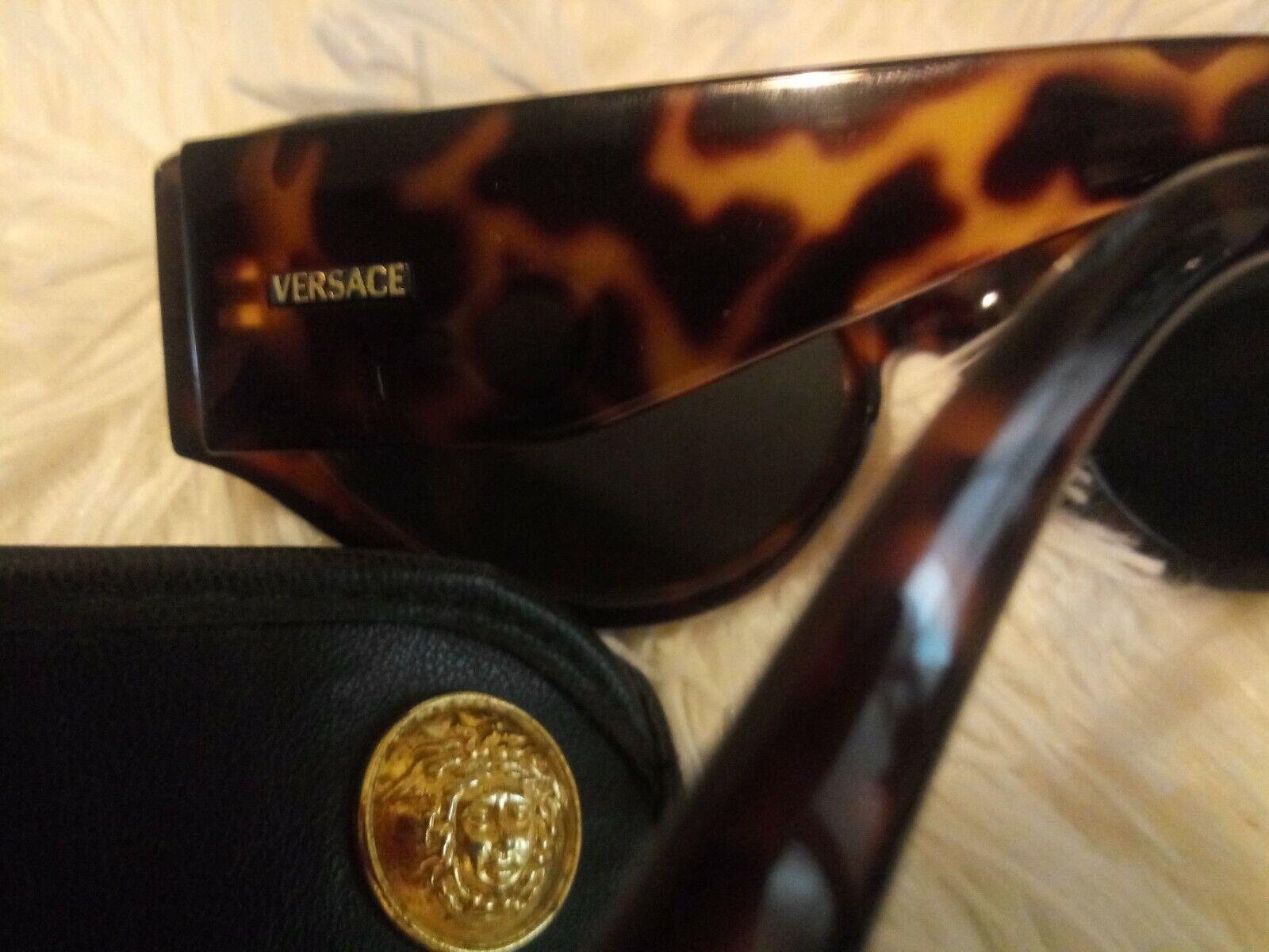 Gianni Versace 1990s Greek Key Tortoise Sunglasses - image 2