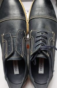 87e9491bd22 Details about Steve Madden Mens Chays Oxford, Navy Nubuck, 11.5 M Us