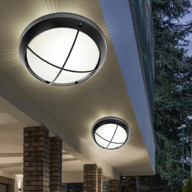 2er Set LED 8 Watt Außen Wand Leuchten Fassaden Strahler Einfahrt Beleuchtungen