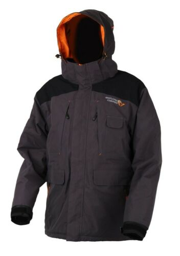 Savage Gear ProGuard Thermo Jacket Jacke Winterjacke Schwarz Grau