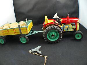 Kovap KDN tracteur avec remorque tonneaux tintoy tôle moteur mécanique 34 cm
