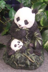 1605 Giant Panda Bear Mom & Baby Latex Fiberglass Production Mold Concrete