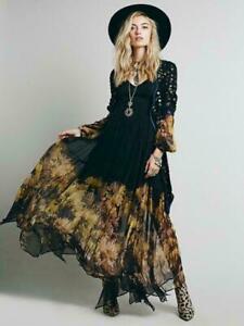 Women-Ladies-Vintage-BOHO-Dress-Hippie-Maxi-Long-Chiffon-Sheer-Beach-Dresses-Sz