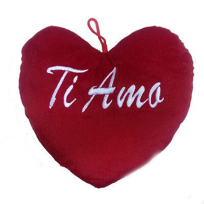 AMORE portachiavi cuore in peluches T.V.T.B 5,5 cm per lui//lei SAN VALENTINO