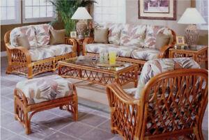 Details about Rattan Man Montego Bay Indoor Rattan 5 Piece Living Room Set
