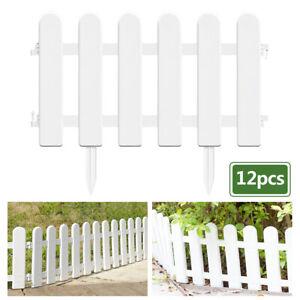 12x White Plastic Fence Christmas Xmas Tree Garden Border Grass Lawn Edge Fence   eBay