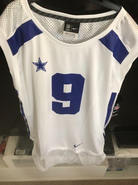 watch 69a8e 8de12 Nike NFL Dallas Cowboys Tony Romo #9 Tank Sleeveless Jersey Women's Large