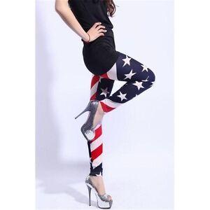 2017-Women-039-s-American-Flag-Leggings-Stars-amp-Stripes-Patriotic-Red-White-and-Blue