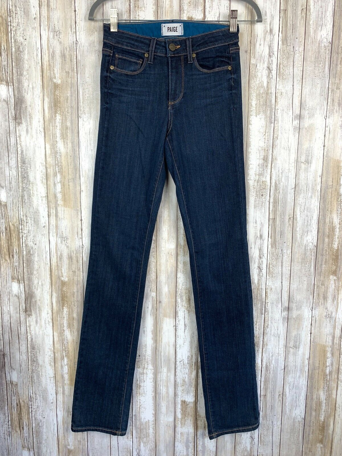 Paige Hoxton Straight Jeans Dark bluee Delancy Wash Stretch 24 Classic