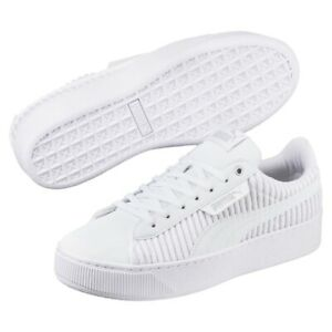 Details zu Puma Vikky Platform EP Q2 Damen Sneaker Schuhe 366455 Weiß AUSVERKAUF