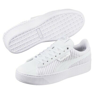 Puma Vikky Platform EP Q2 Ladies Sneaker Shoes 366455 White Sale | eBay