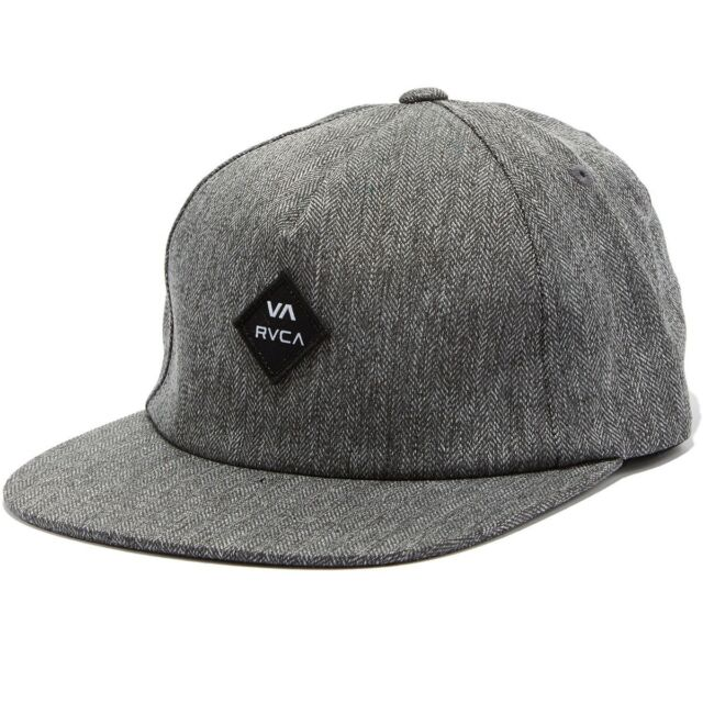 9d81156c RVCA Sile Mens Snapback Hat *NEW 5 Panel VA RUCA Charcoal Heather Grey FREE  SHIP