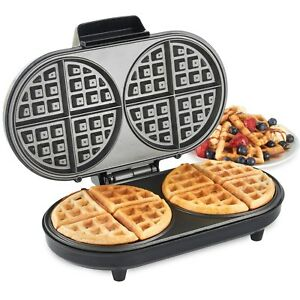 VonShef-Round-Waffle-Maker-Iron-Machine-2-Slice-Non-Stick-Compact-Design-1200W