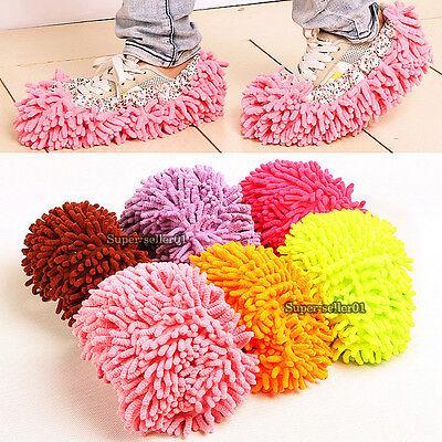 1Stk Hausschuh Pantoffel Bodenreinigung Wischmop Reiniger Reinigung Fuß Schuh