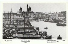 Yorkshire Postcard - Old Hull - Town Docks c1895  A5470