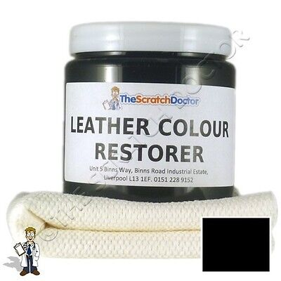 Black Leather Dye Colour Restorer For Audi Leather Car Interiors Seats Etc Ebay