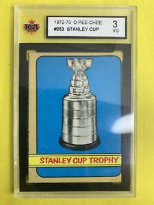 1972-73-O-Pee-Chee-Stanley-Cup-Trophy-253-Graded-KSA-3VG-Stanley-Cup-Champions