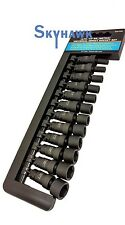 12 PC Impact Wrench Socket Set Tools 1/4 Inch Drive Universal Swivel Kit Metric