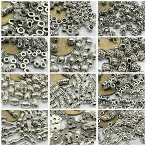 50pcs-Tibetan-Silver-Metal-Alloy-Charms-Loose-Spacer-Beads-Jewelry-Making-DIY