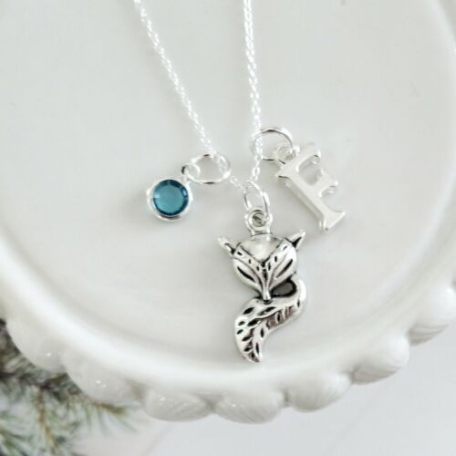 woodland gift personalised gifts Fox necklace women/'s jewellery vixen