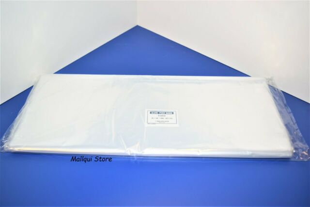 100 CLEAR 10 x 15 POLY BAGS PLASTIC LAY FLAT OPEN TOP PACKING 2 MIL