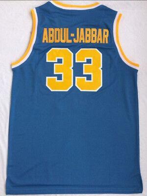 promo code eb897 9f764 Kareem Abdul-Jabbar #33 UCLA Bruins College Sewn Throwback Jersey Shirt |  eBay