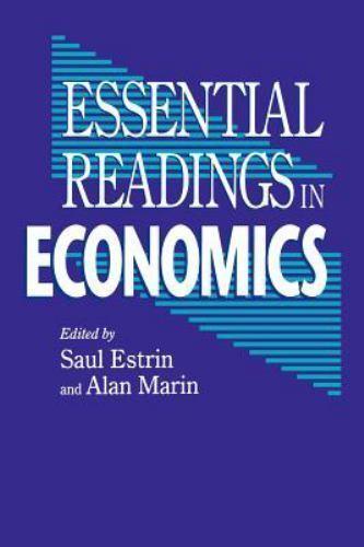 Essential Readings in Economics (1995, Paperback)
