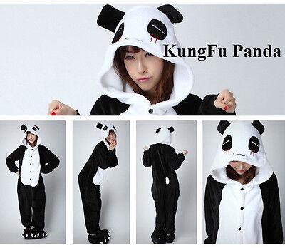 Unisex Adult Kigurumi Pajamas Anime Cosplay Costume Hooded Sleepwear Panda