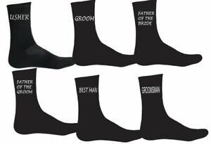 Personalised Mens wedding Socks Groom Best Man Usher Father of Bride Groom