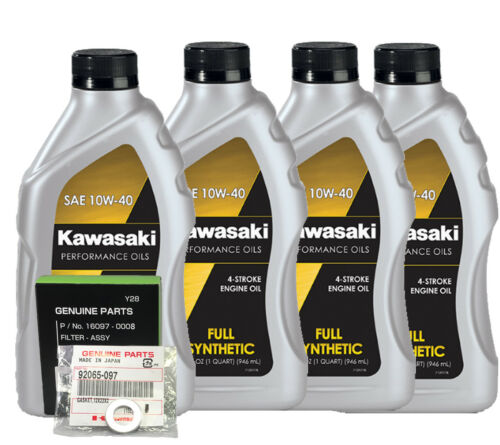 KAWASAKI ZX10R 0415 FULL SYNTHETIC OIL CHANGE KIT