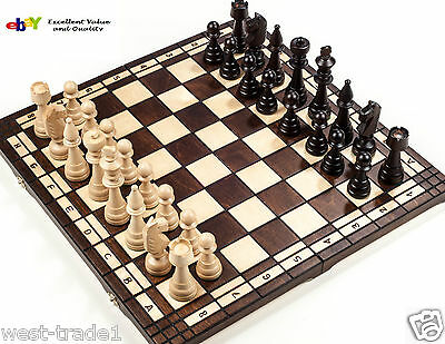 Brand New♞ Hand Crafted Club Style  Wooden Chess Set  ♝ 50cm x 50cm