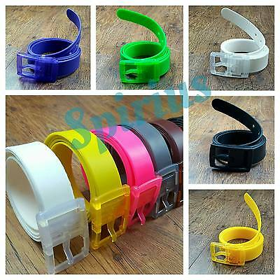 Silicone Belt Adjustable size Unisex Men Women Scented Plastic Buckle UK Seller
