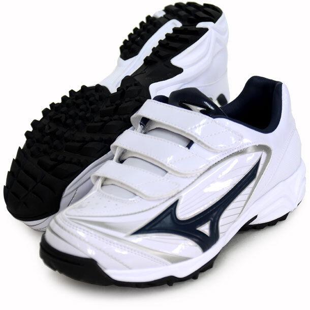 Mizuno Japan Baseball scarpe Select Nine Trainer CR 11GT1722 bianca Navy