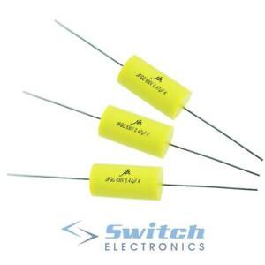 Axial Polypropylene Film Capacitor Valve Metal Film 630V ±10% - 1nF to 1000nF
