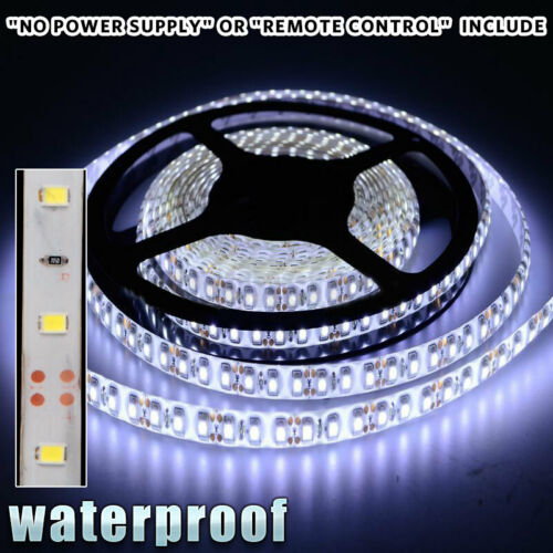 DC 12V Waterproof Cool White 5M 300leds 3528 Boat Pontoon Bow LED Light Strip US