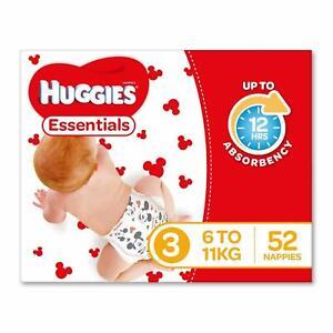 Huggies-Essentials-Nappies-Size-3-Crawler-6-11kg-52-Count