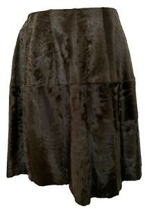 MARNI-BROWN-LAMB-FUR-MINI-SKIRT-40-2250