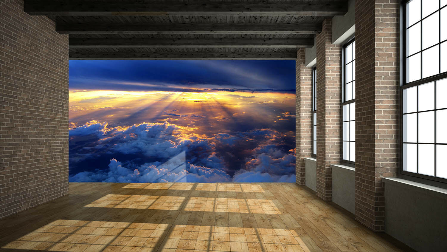 3D Sunshine Clouds 421 Wall Paper Wall Print Decal Wall Deco Indoor Mural Lemon